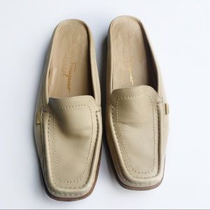 Salvatore Ferragamo | Tan Slip On mules | 9.5